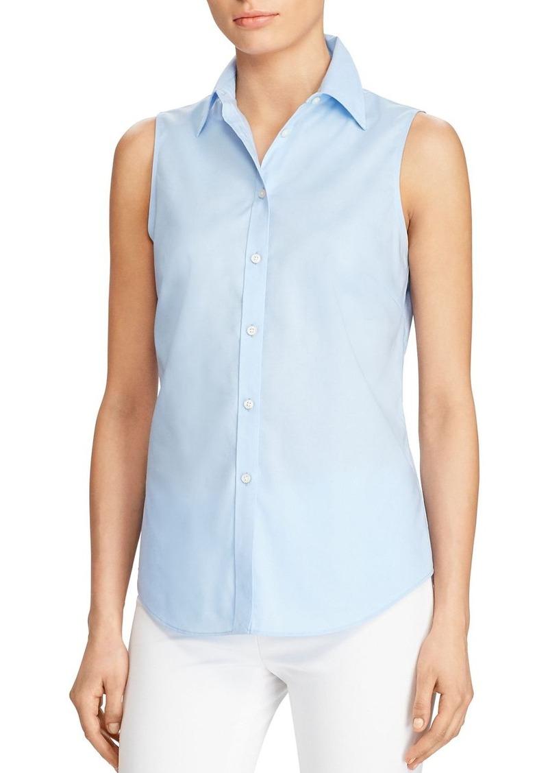 Ralph Lauren Lauren Ralph Lauren Sleeveless Button Down Shirt ...