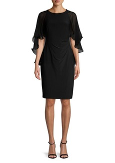 Lauren Ralph Lauren Sleeveless Caped Seath Dress