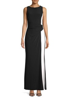 Lauren Ralph Lauren Sleeveless Colorblock Gown