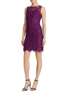 Lauren Ralph Lauren Sleeveless Lace Sheath Dress
