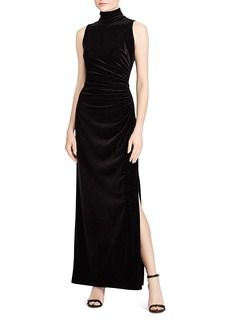 Lauren Ralph Lauren Sleeveless Metallic Velvet Gown