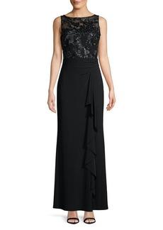 Lauren Ralph Lauren Sleeveless Sequin & Lace Gown
