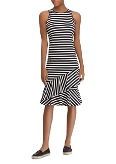 Lauren Ralph Lauren Sleeveless Striped Cotton Dress