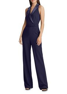 Lauren Ralph Lauren Sleeveless Tuxedo Jumpsuit