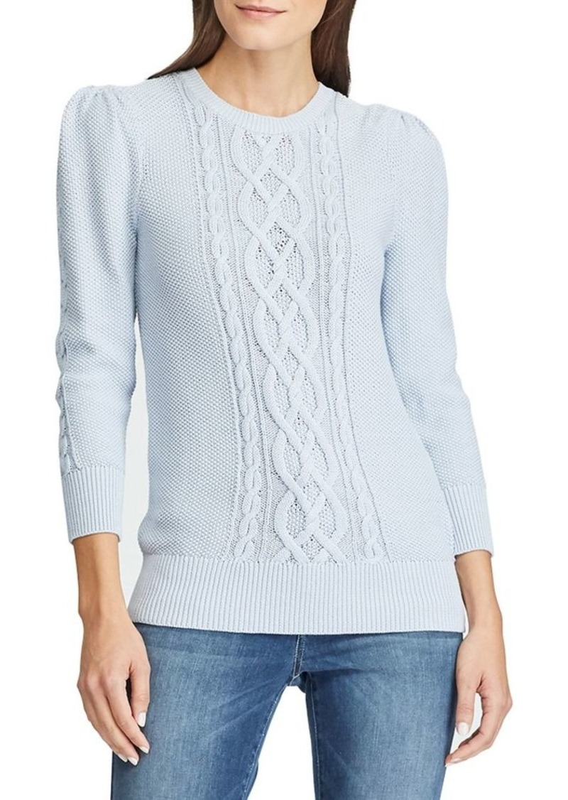 Lauren Ralph Lauren Slim-Fit Cable-Knit Cotton Sweater