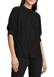 Lauren Ralph Lauren Slim-Fit Lace-Trimmed Jersey Top