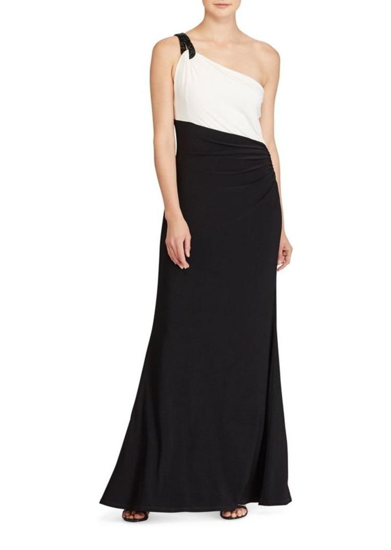 Ralph Lauren Lauren Ralph Lauren Slim-Fit One-Shoulder Gown