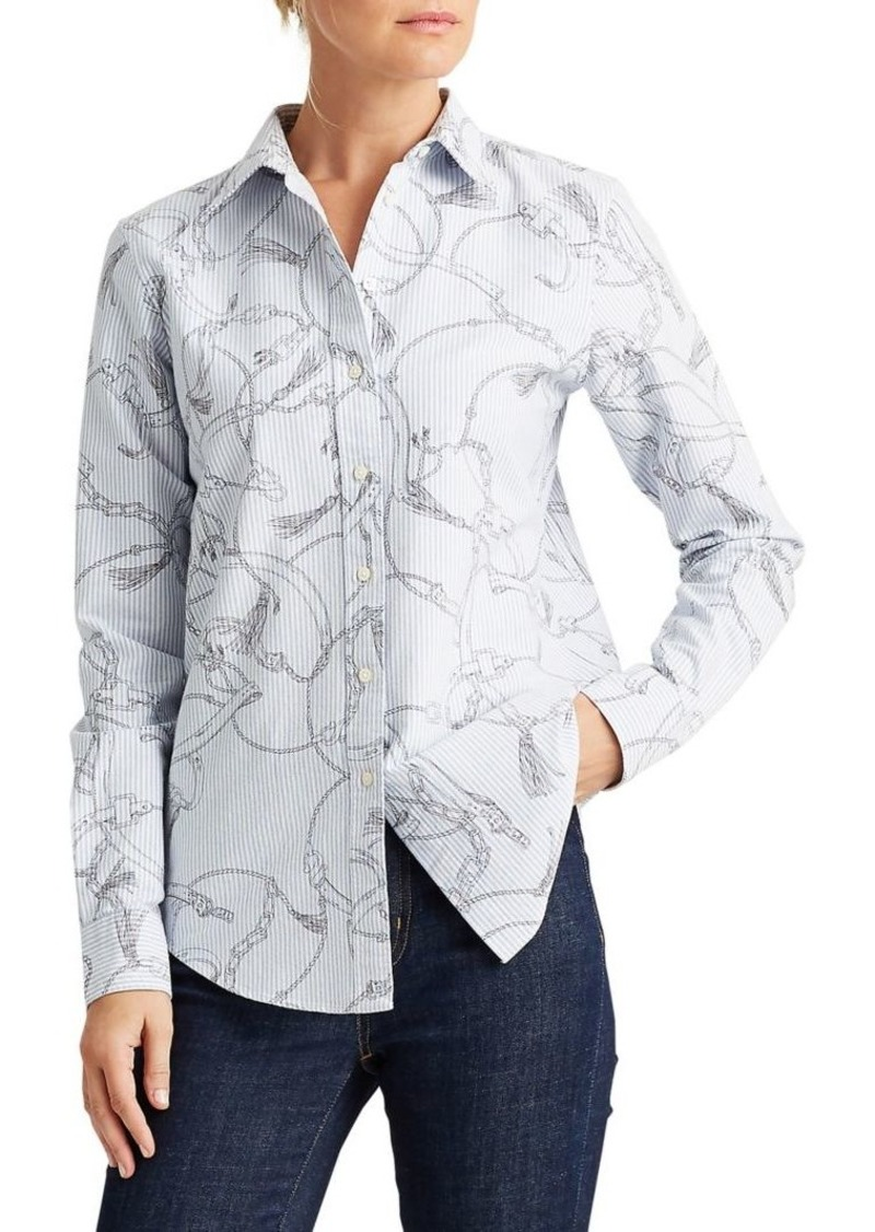 Lauren Ralph Lauren Slim-Fit Printed Cotton Oxford Shirt