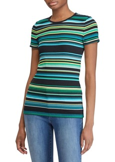 Lauren Ralph Lauren Slim-Fit Rib-Knit Stripe Tee