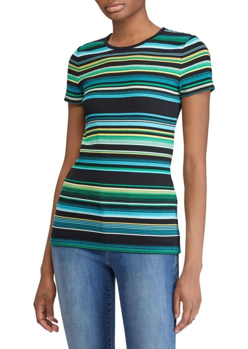 Lauren Ralph Lauren Slim-Fit Rib-Knit Stripe Tee