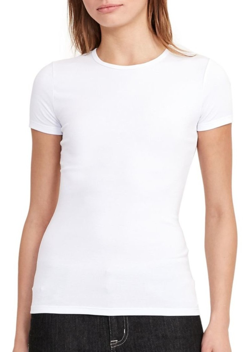 Lauren Ralph Lauren Solid Cotton-Blend Tee