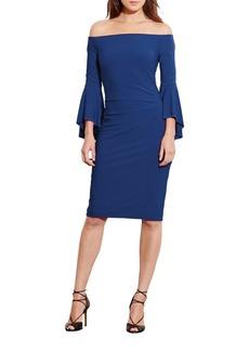 Lauren Ralph Lauren Solid Off-the-Shoulder Dress