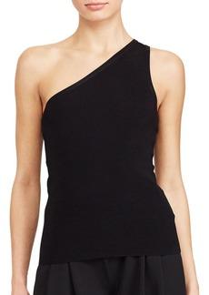 Lauren Ralph Lauren Solid One-Shoulder Top