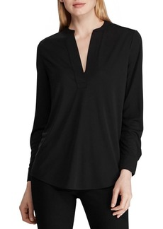 Lauren Ralph Lauren Split-Neck Top