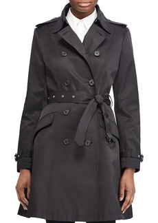 Lauren Ralph Lauren Split Needle Skirted Trench Coat