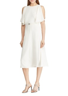 Lauren Ralph Lauren Split-Sleeve Belted Dress