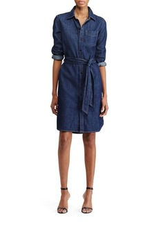 Lauren Ralph Lauren Spread-Collar Denim Shirtdress