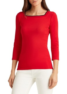 Lauren Ralph Lauren Square Neck Top