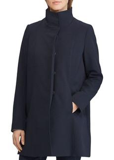 Lauren Ralph Lauren Stand-Collar A-Line Coat