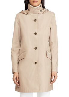 Lauren Ralph Lauren Stand Collar Button-Tab Walker Coat