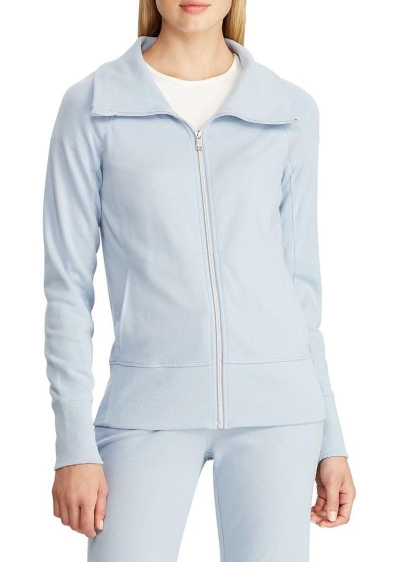 Lauren Ralph Lauren Stand-Collar Raglan-Sleeve Zip-Up