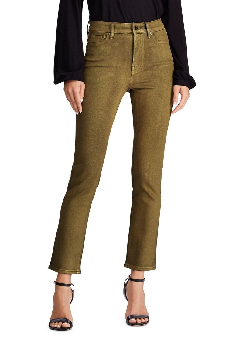 Lauren Ralph Lauren Straight Ankle Jeans in Bronze