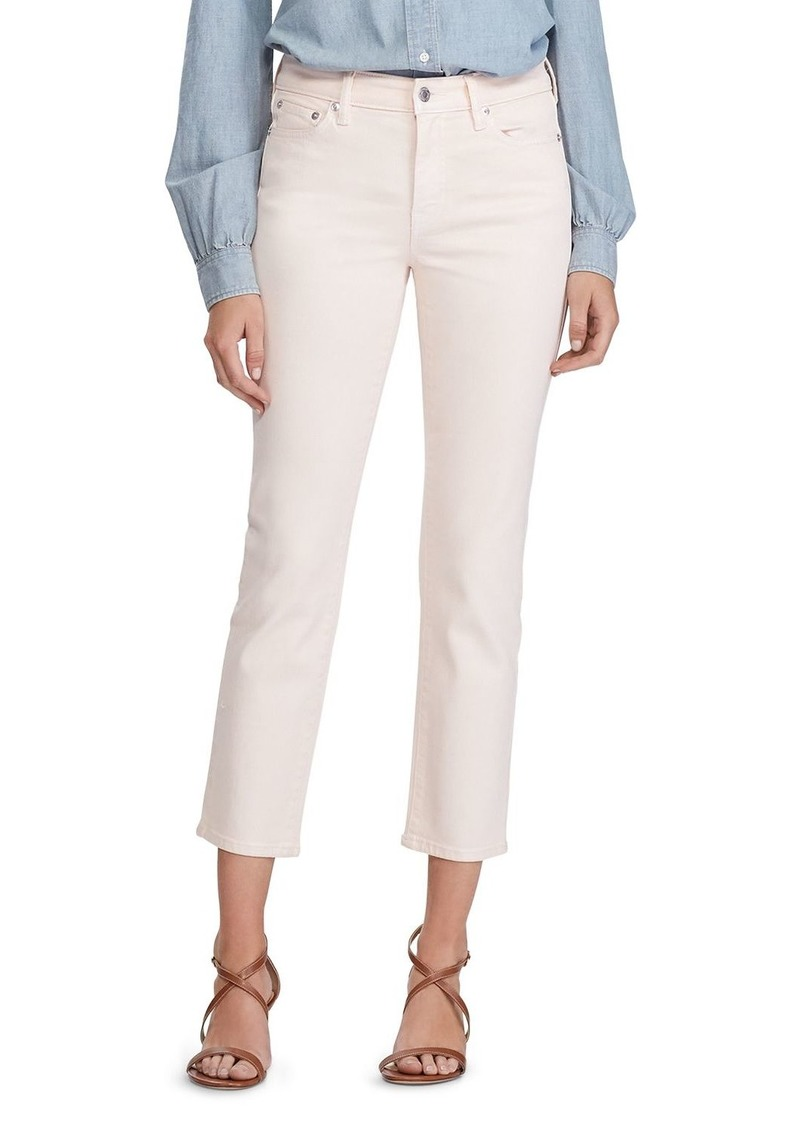 Lauren Ralph Lauren Straight Ankle Jeans in Shell