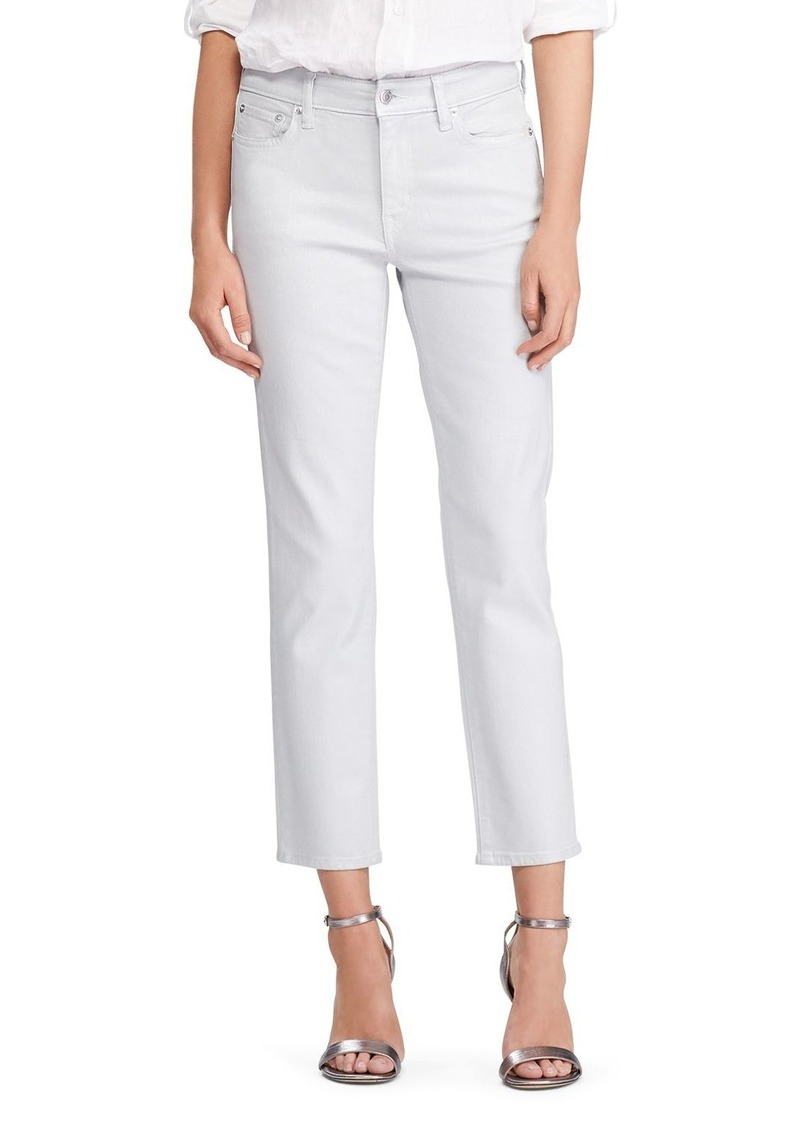 Lauren Ralph Lauren Straight Ankle Jeans in Sky