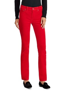Lauren Ralph Lauren Straight Corduroy Jeans in Red