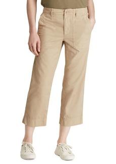 Lauren Ralph Lauren Straight Cotton Twill Pants