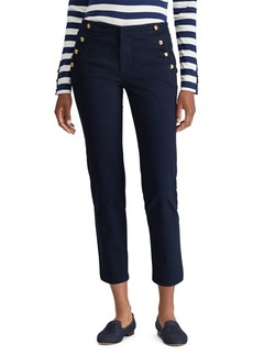 Lauren Ralph Lauren Straight-Fit Button-Trimmed Chino Pants