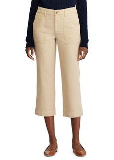 Lauren Ralph Lauren Straight-Fit Canvas Cropped Pants