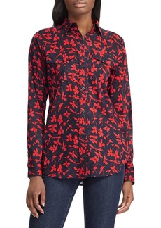 Lauren Ralph Lauren Straight-Fit Floral-Print Cotton Shirt