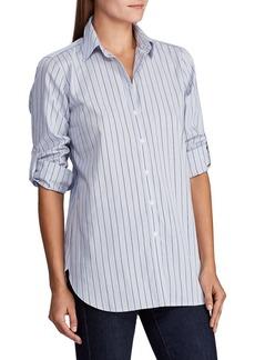 Lauren Ralph Lauren Straight-Fit Pinstriped Shirt