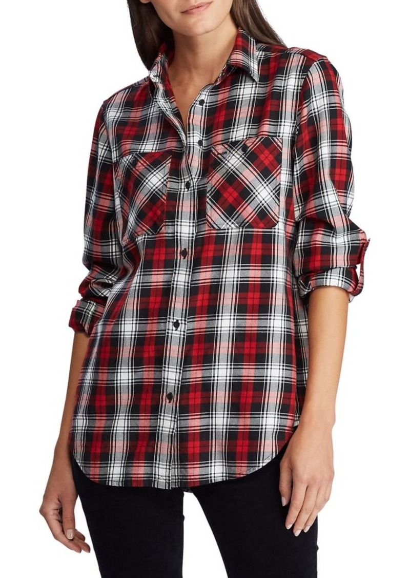 Lauren Ralph Lauren Straight-Fit Plaid Cotton Shirt