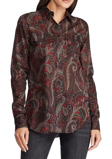 Lauren Ralph Lauren Straight-Fit Printed Long-Sleeve Shirt