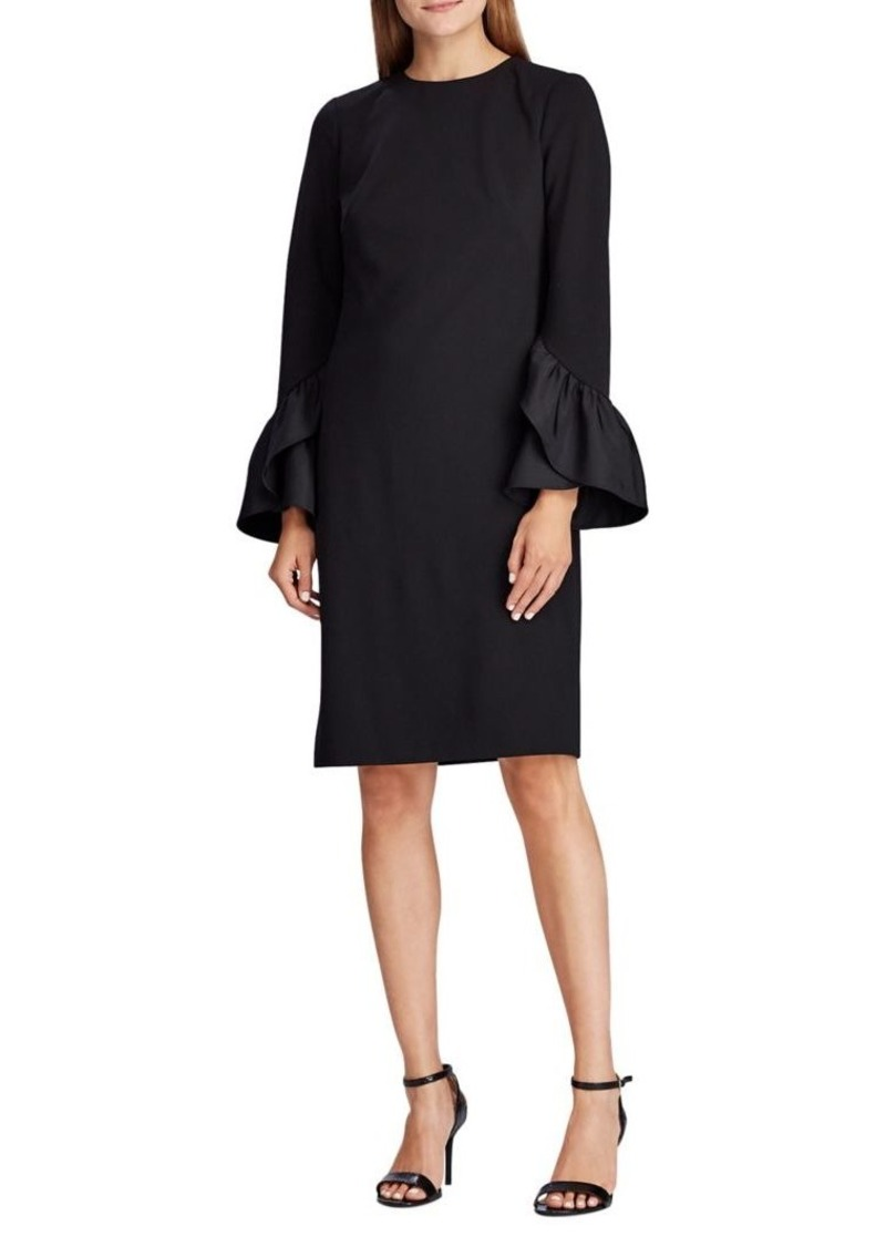 Lauren Ralph Lauren Straight-Fit Ruffle Jersey Dress