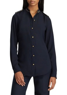 Lauren Ralph Lauren Straight-Fit Triple-Georgette Shirt