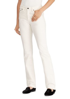 Lauren Ralph Lauren Straight-Leg Corduroy Jeans in Winter Cream