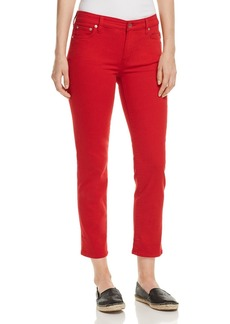Lauren Ralph Lauren Straight-Leg Cropped Jeans in Red
