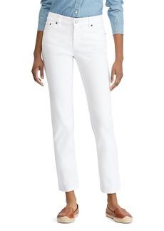 Lauren Ralph Lauren Straight Leg Jeans in White