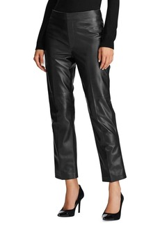 Lauren Ralph Lauren Straight-Leg Leather Pants