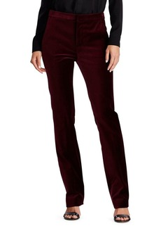 Lauren Ralph Lauren Straight Stretch Velvet Pants