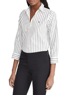 Lauren Ralph Lauren Stretch-Cotton Button-Down Shirt