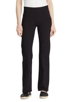 Lauren Ralph Lauren Stretch Cotton Straight Pants
