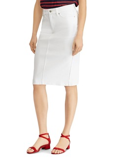 Lauren Ralph Lauren Stretch-Denim Pencil Skirt