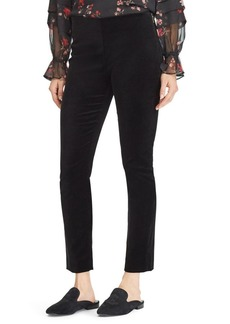 Lauren Ralph Lauren Stretch Velvet Skinny Pants