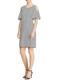 Lauren Ralph Lauren Stripe Cold-Shoulder Dress - 100% Exclusive