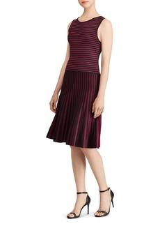 Lauren Ralph Lauren Stripe Fit-and-Flare Dress