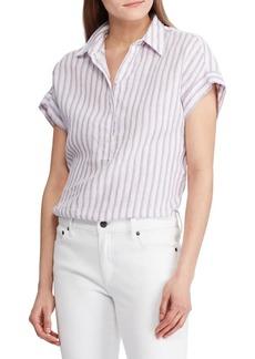Lauren Ralph Lauren Stripe Relaxed-Fit Linen Shirt